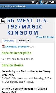 Orlando Bus Schedule- screenshot thumbnail