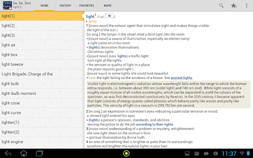 Oxford Dictionary of English T - screenshot thumbnail