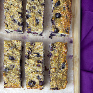 Banana & Blueberry Protein Bars.