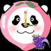 Fruit Panda Clock