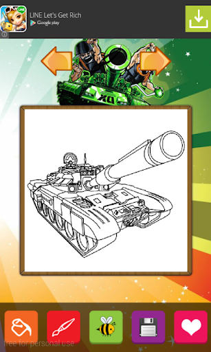 World of Tanks Coloring Pages