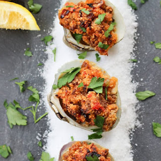 Chorizo Stuffed Clams