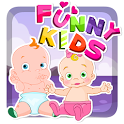 Funny Kids Kissing icon