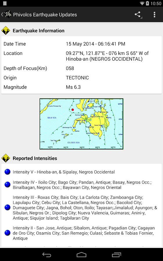 PH Weather And Earthquakes - screenshot