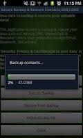 Screenshot of Secure Backup & Restore