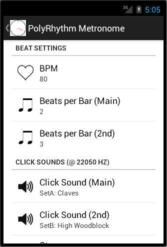 PolyRhythm Metronome- screenshot