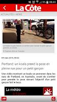 Screenshot of La Côte en continu