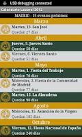 Screenshot of Calendario Laboral España 2014
