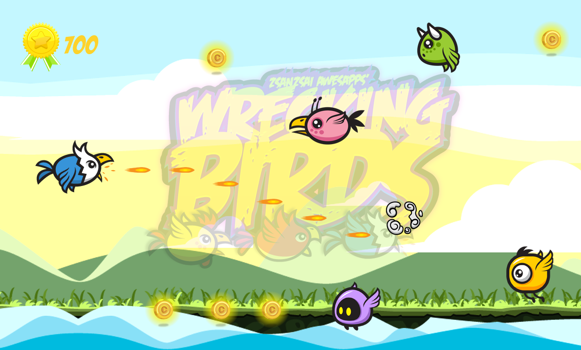 Wrecking Birds Shooting Game!- screenshot