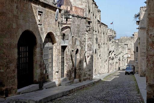 street-rhodes-greece - A street on the island of Rhodes, Greece.