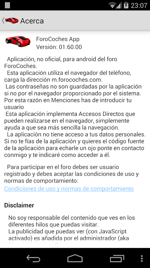 ForoCoches App - screenshot
