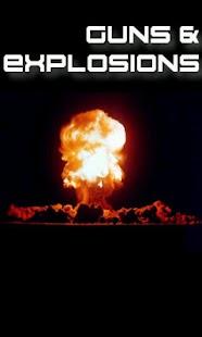 Zbraně a výbuchy - náhled