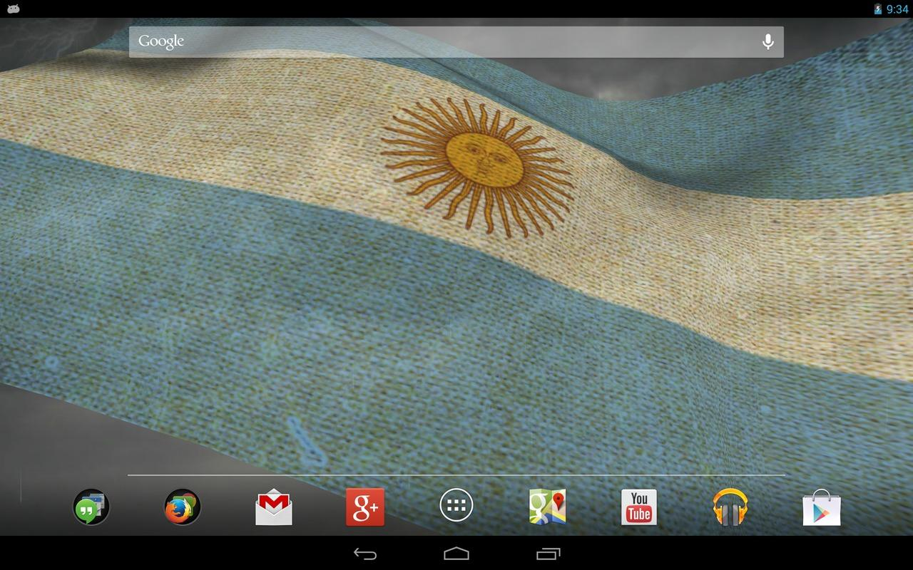 3D Argentina Flag LWP- screenshot