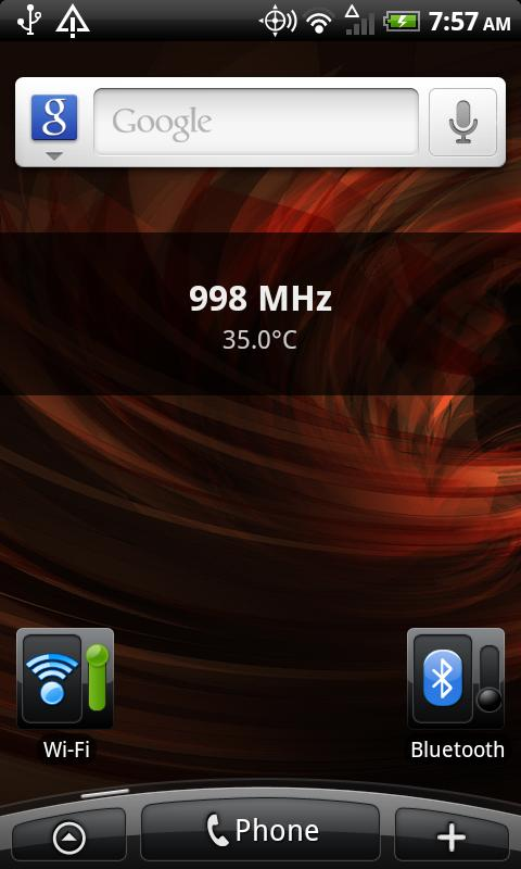Simple CPU Widget - screenshot