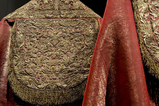 Detail of the Red Liturgical Copes for High Mass, Treasure of the Chapel of Saint John the Baptist