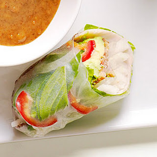 Turkey, Bacon, and Avocado Summer Rolls