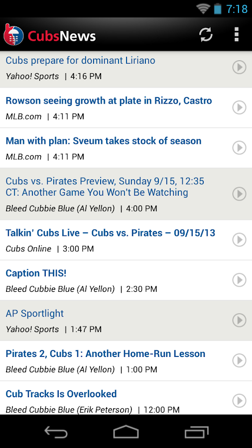 ZM: Cubs News - screenshot