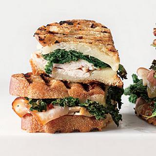 Sauteed Greens, Smoked Turkey and Provolone Panini