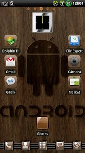 Theme Woodroid GO Launcher EX- screenshot thumbnail