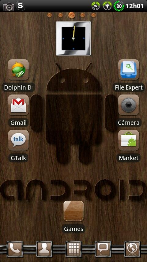 Theme Woodroid GO Launcher EX - screenshot