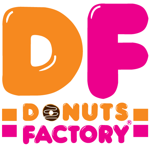 donut factory Donuts factory avails friendly, relaxed atmosphere, and internet service to its patrons at the conveniently located and easily accessible shops.