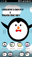 Screenshot of Cute Penguin APEX/NOVA THEME