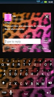 GO SMS Cheetah Pretty Theme - screenshot thumbnail