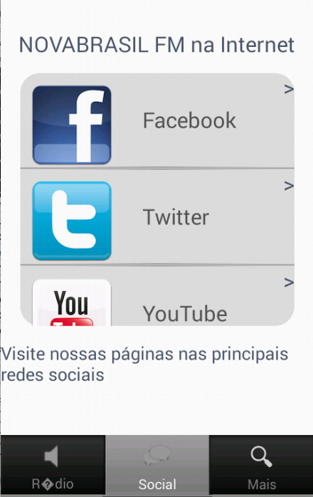Rádio Nova Brasil FM - screenshot