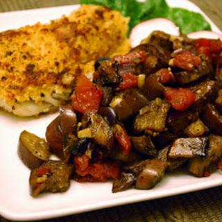 Eggplant and Portobello Saute