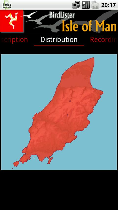 BirdLister Isle of Man- screenshot