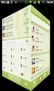 GO Contacts Green theme - screenshot thumbnail