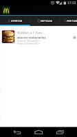 Screenshot of McDonald's Córdoba Promociones