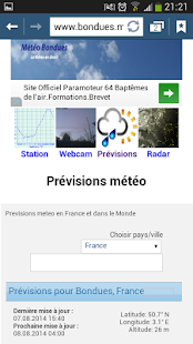 Météo Bondues (59)- screenshot thumbnail