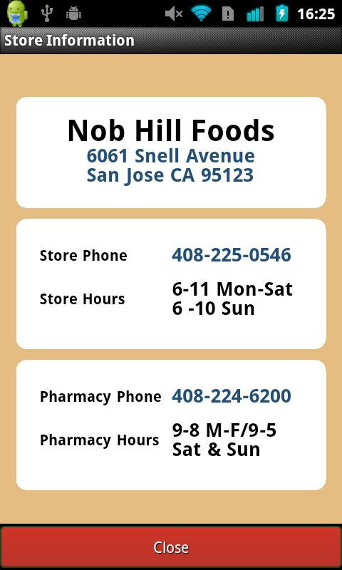 Nob Hill Foods - screenshot