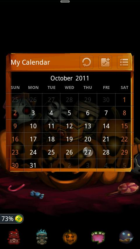 GO SMS Pro Z.Halloween Theme - screenshot