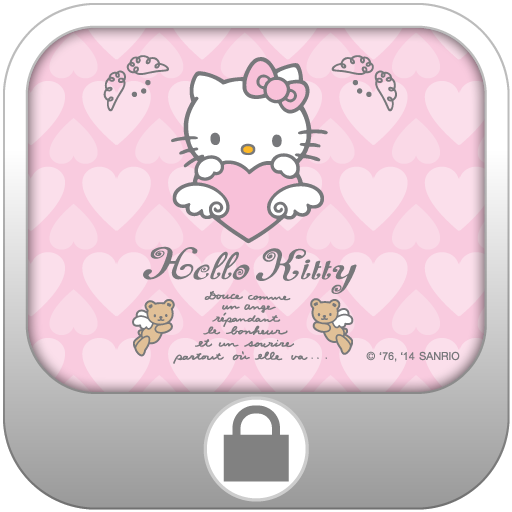Hello Kitty Angel Screen Lock 個人化 App LOGO-硬是要APP