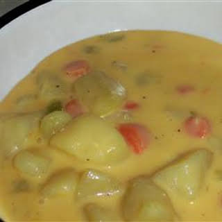 German Potato Cheese Soup.