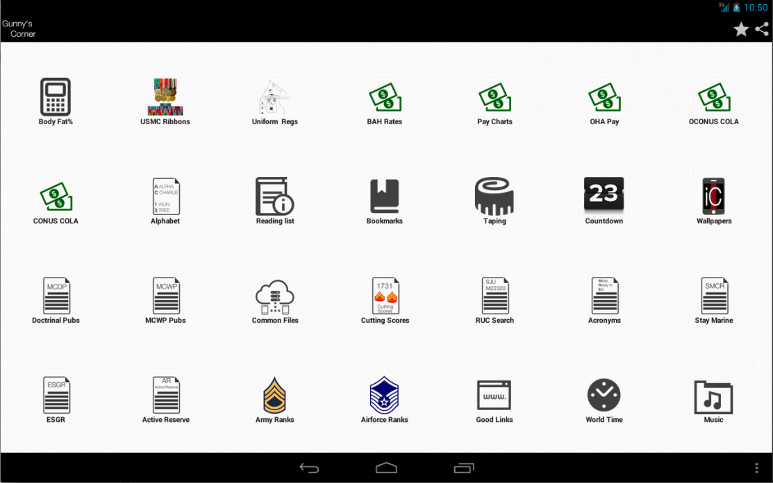 iCorps: Pocket Reference - screenshot