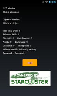 StarCluster 3 NPC Generator screenshot