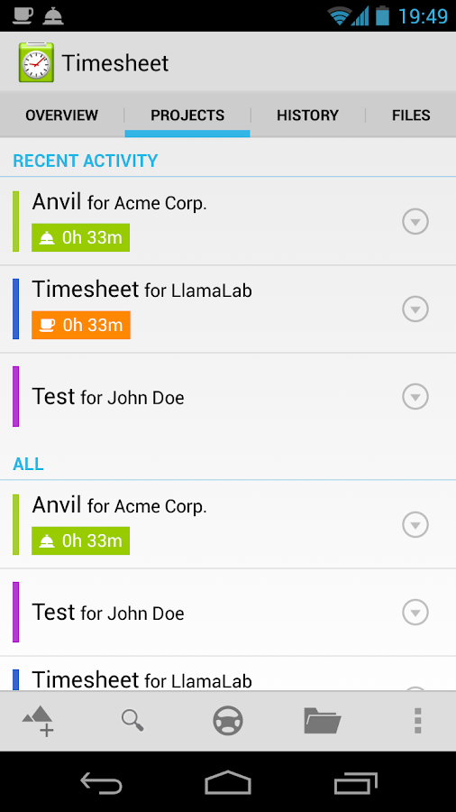 Timesheet - work time tracker- screenshot