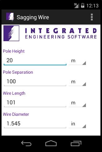 Sagging Wire Calculator