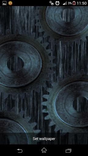 【免費個人化App】Animated Gears Live Wallpaper-APP點子