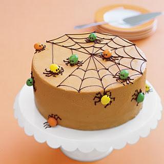 Spiderweb Spice Cake