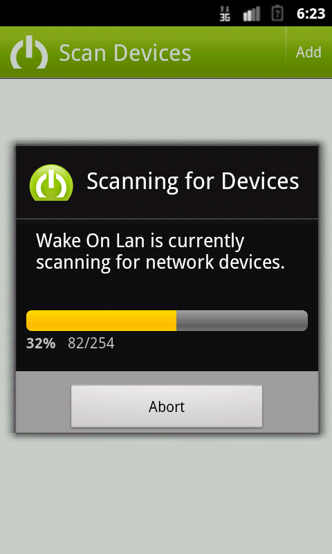Wake on Lan - with Widget- screenshot