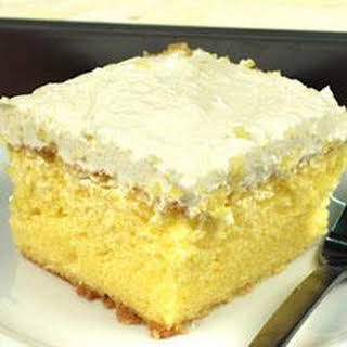 Lemon Cooler Cream Cake.