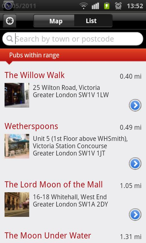 Wetherspoon Pub Finder - screenshot