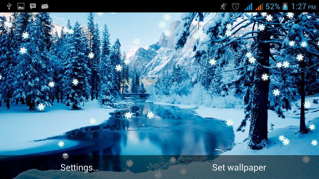 winter snowfall live wallpaper android apps on google play