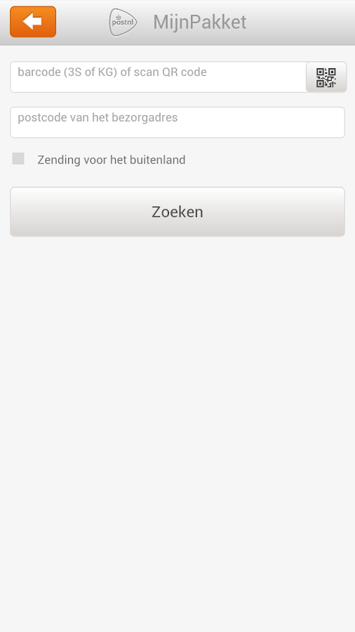 MijnPakket - screenshot