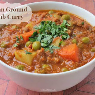 Indian Ground Lamb Curry.