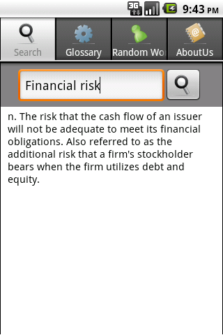 Business & Finance Dictionary- screenshot